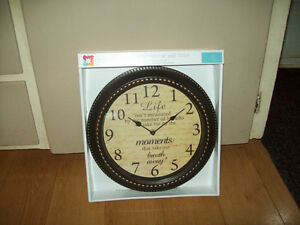 decorative clocks with inscriptions