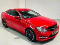 MERCEDES-BENZ C-CLASS C220 CDI AMG SPORT AUTO 2 DOOR RED COUPE 2012 C204 C250