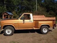 For TRADE: 1980 Ford F100 Stepside Shortbox Wood bed
