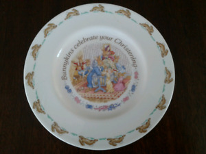 Bunnykins Royal Doulton Christening Keepsake Plate