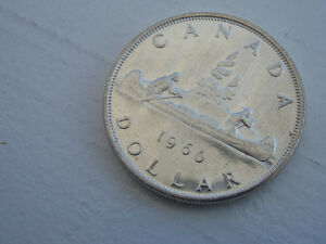 1960 Canadian, silver, one dollar coin