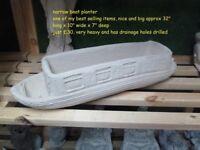 Narrow boat planter