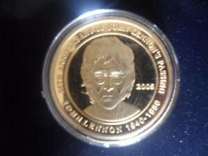 2005 25TH ANNIVERSARY COIN OF JOHN LENNONS PASSING