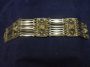 VINTAGE STERLING SILVER TAXCO DANGLE LINK BRACELET