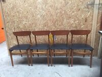 Vintage, retro dining room chairs - set of 4 £30