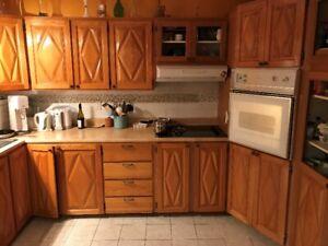 Portes armoires de cuisine en chêne