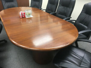 Boardroom table office chairs