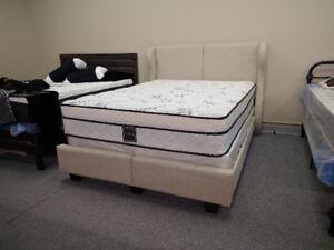 Sarnia Sleep Centre   Stylish Upholstered Fabric Bed