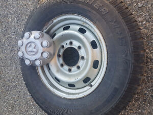 """Set of 4 dodge 2500 17"""" rims and snow tires"""