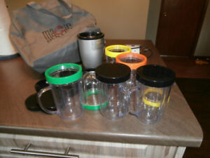 Magic Bullet blender and accessories for sale