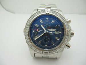 Breitling A13370 super avenger diamond 48mm automatic watch