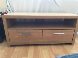 Tv table with two drawers