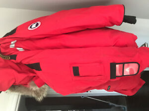 Red Canada goose resolute winter jacket