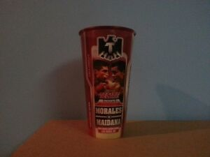 Boxing memorabilia cup Morales/Maidana