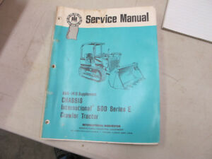 IH 500 Series E Crawler tractor Service Manual