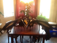 Moose Antler Eagle Carvings