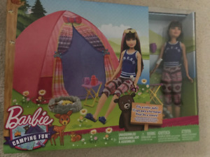 New in box Barbie Camping set with doll