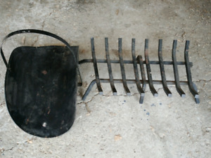 Wood basket and fire grate