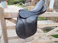 Bates GP 17inch gullet change saddle with flair flocking