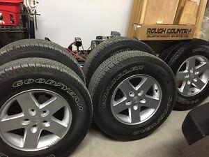 """New OEM Wrangler 17"""" Wheels X 5"""