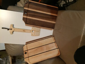 Beautiful BBQ grill cleaners and cutting boards for sale .