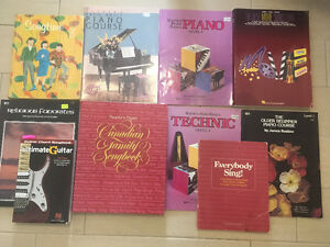 Piano and Guitar Books-Great Condition