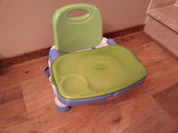 FIsher Price Portable High Chair with Tray and Cover