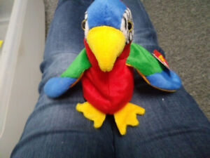 Jabber Parrot TY beanie baby stuffed animal collectible