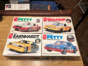 4 1/25 model kits Earnhardt Petty AMT
