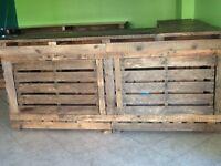 Commercial Counter and Shelving Units Made from Pallets