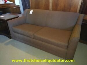 RA Light brown upholstery double size sofa bed