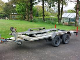 Car trailer. Twin Axle.
