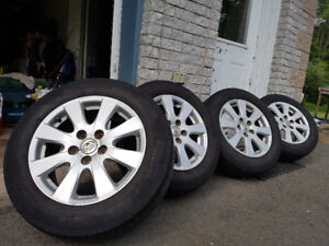 (Sold)4 Pirelli tires 215 60 r16 on alloy rims off of  Camry