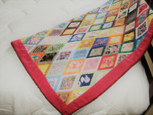 Handmade Diamond Lap Quilt - NEW