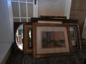 A large collection of Picture Frames