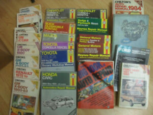 Haynes and Chilton Manuals. 1970 - early 2000 models