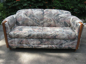 COUCH SOFA BED AND TURNS IN TO BED ONLY $50.00 FROM NON SMOKING Cambridge Kitchener Area image 1