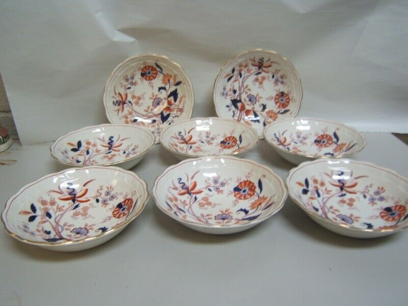"""Booths """"Fresian"""" Cereal Bowls Lot of 8  Good Condition 6 3/8"""" Diam."""