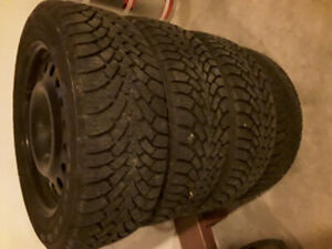 Car tires for sale, very low kmh on them. Great shape