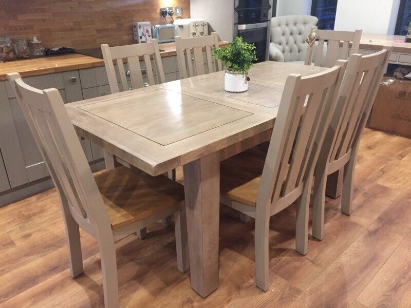 Brand New Solid Oak Dining Table With Chairs