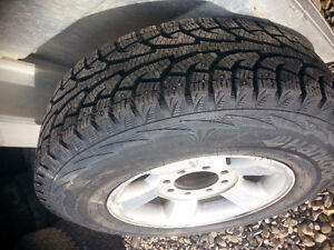 4 Studded I Pike winter tires 235/80R17 10 ply on dodge rims