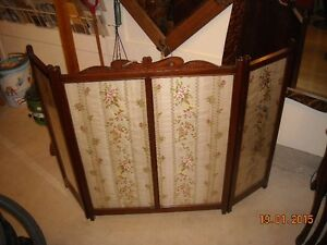 VICTORIAN HAND CARVED FIREPLACE SCREEN London Ontario image 1