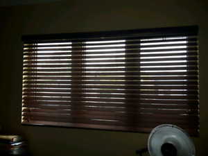 "2"" Faux Wood Blinds(dark brown)"