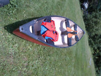 16 foot Pelican Canoe Paddles and life jacket