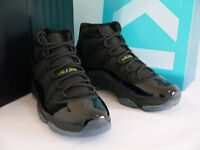 NIKE AIR JORDAN RETRO 11 BLACK GAMMA BLUE 378037-006 DS SIZE 9.5
