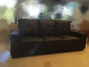 Quality pu leather sofa with comfort feeling available 3 seater b Burwood Burwood Area Preview