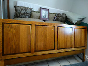 (REDUCED) Solid Oak Headboard, 79 in. (Nice Wood Grain Detail !!
