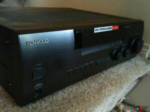 Kenwood 80 W/Channel Stereo Receiver, & Three Speakers.