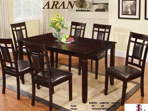 THIS BRAND NEW 7 PIECE DINETTE SET IS ON SALE FOR ONLY $650.00