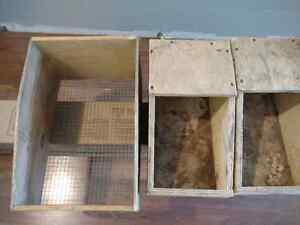 Nesting boxes for rabbits